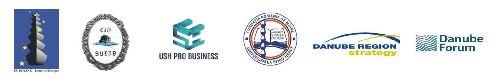 STADIUL ACTUAL AL APLICĂRII STRATEGIEI REGIUNII DUNĂRII ȘI OPORTUNITĂȚILE GEO-ECONOMICE OFERITE ROMÂNIEI ÎN URMĂTORUL DECENIU – 28 iunie 2021, 14.30 – 17.00