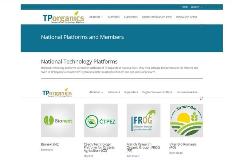 Asociația INTER-BIO – Platforma tehnologică națională TP Organics